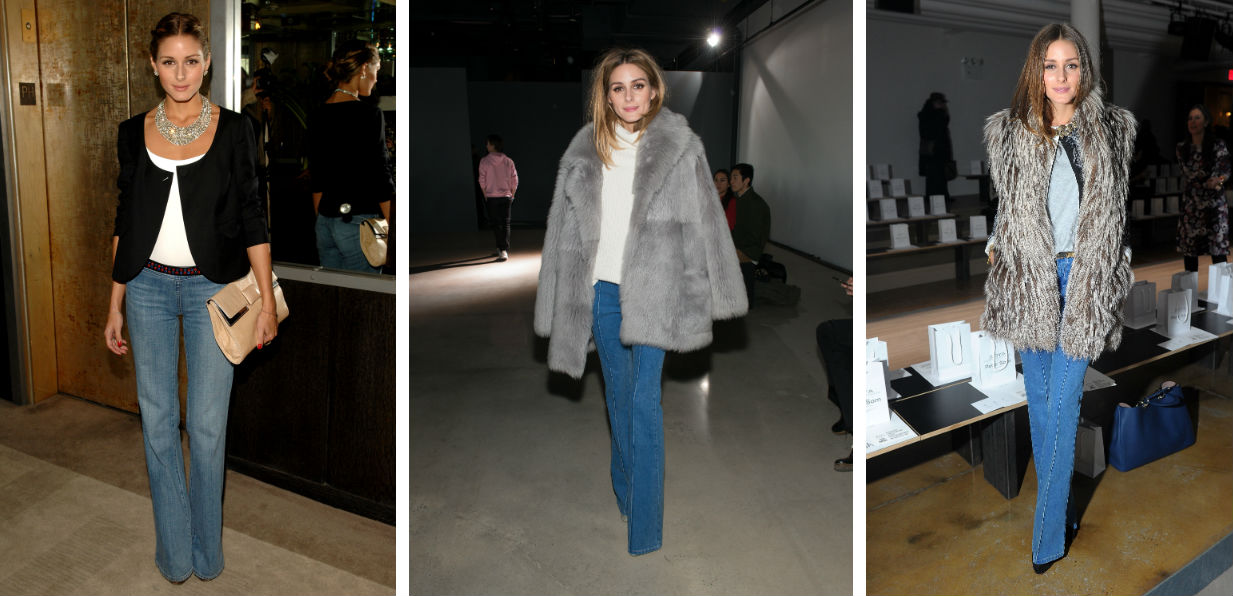 olivia palermo flared jeans style