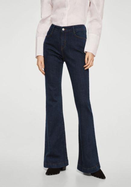 mango flared jeans style