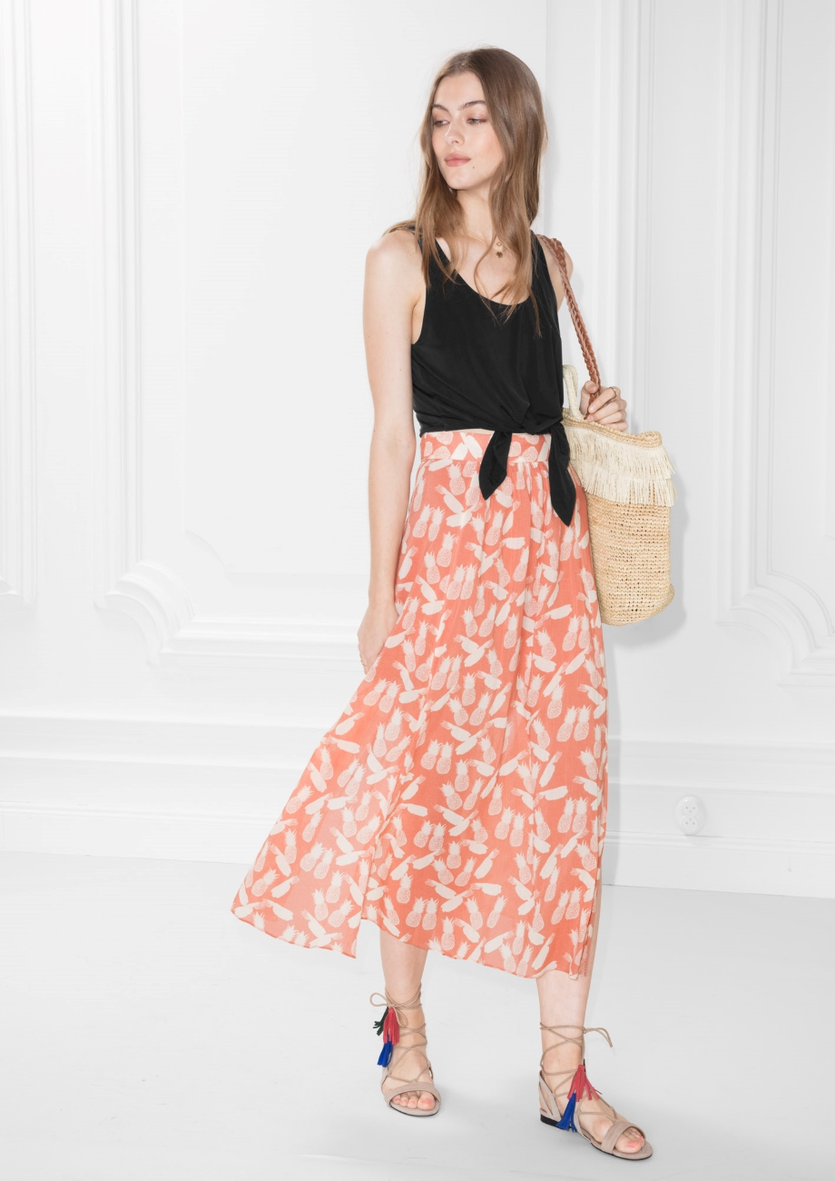 stories midi skirts