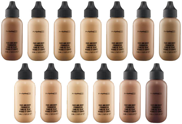 lightweight foundations MAC Face Body