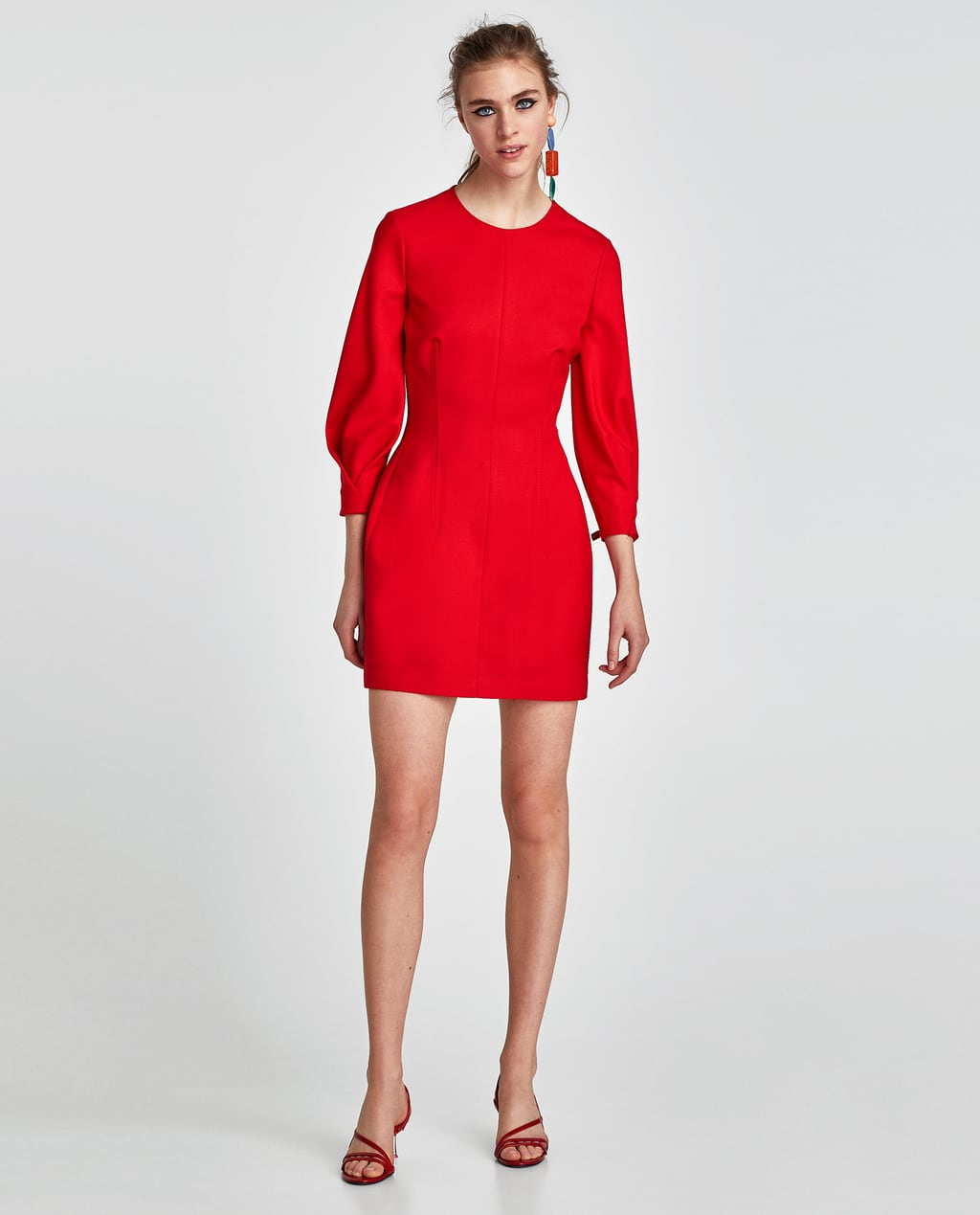zara little red dresses