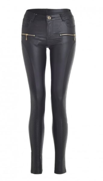 leather look trousers iclothing