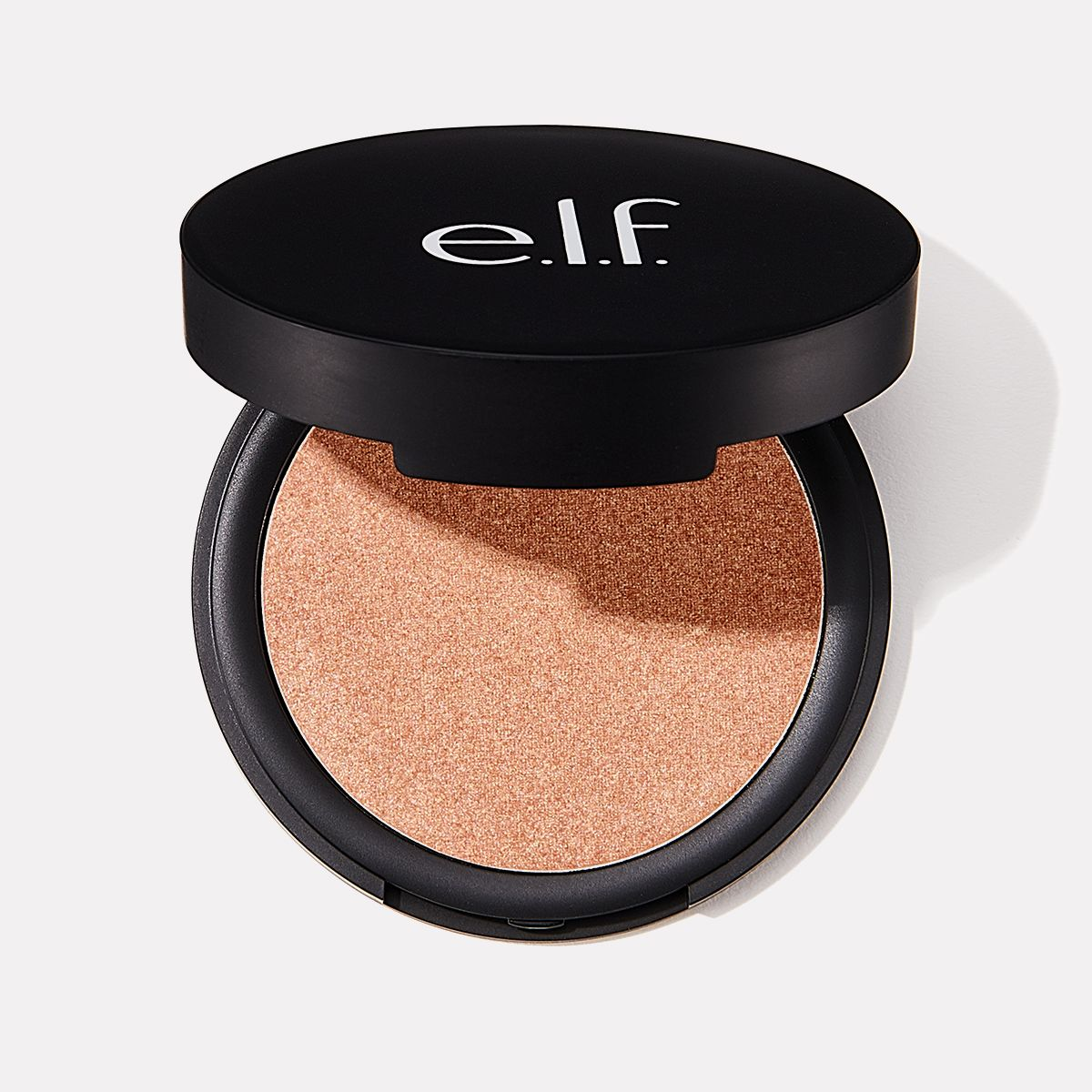 elf shimmer highlighting powder sunset glow