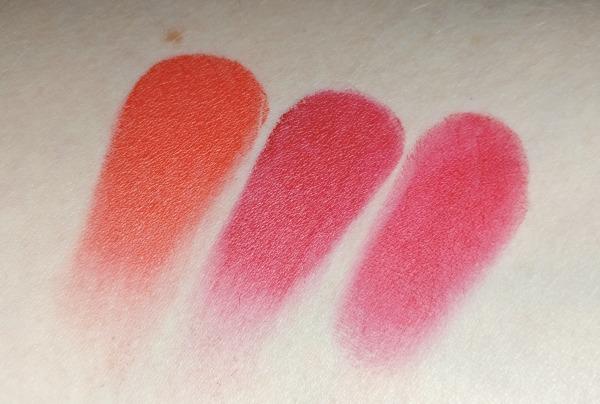 MAC red lipsticks swatches