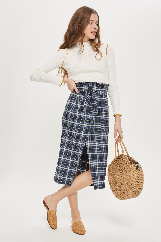 topshop paperbag skirt