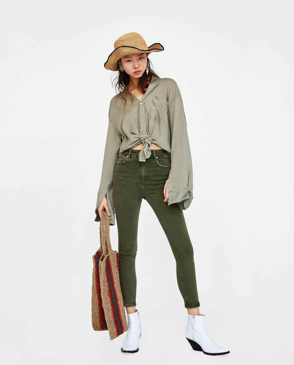 zara green pants