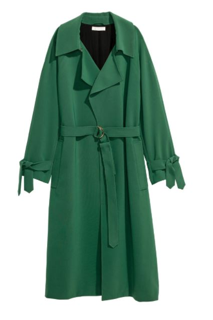 hm green coat