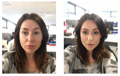 YSL makeup test