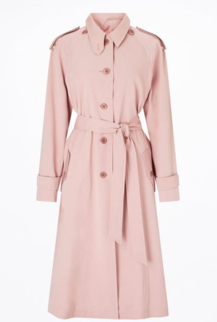 holly willoughby pink trench coat