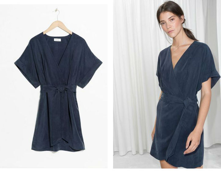 other stories wrap dress