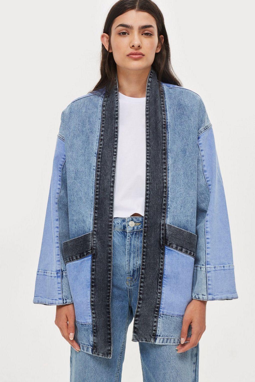 topshop denim kimono