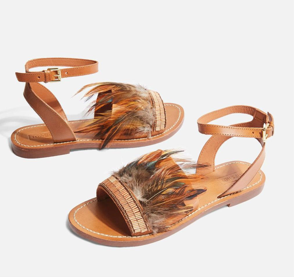 topshop fancy flat sandals
