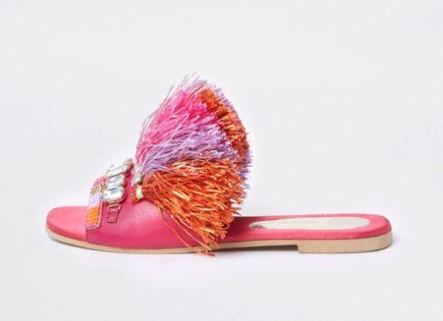 river island fancy flat sandals