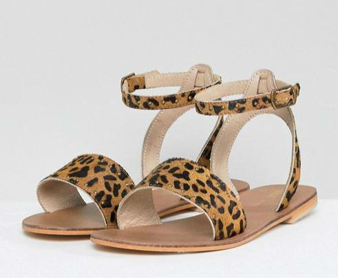 asos fancy flat sandals