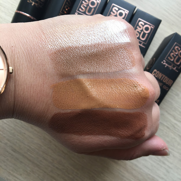 sosu contour on the go swatches contouring sticks