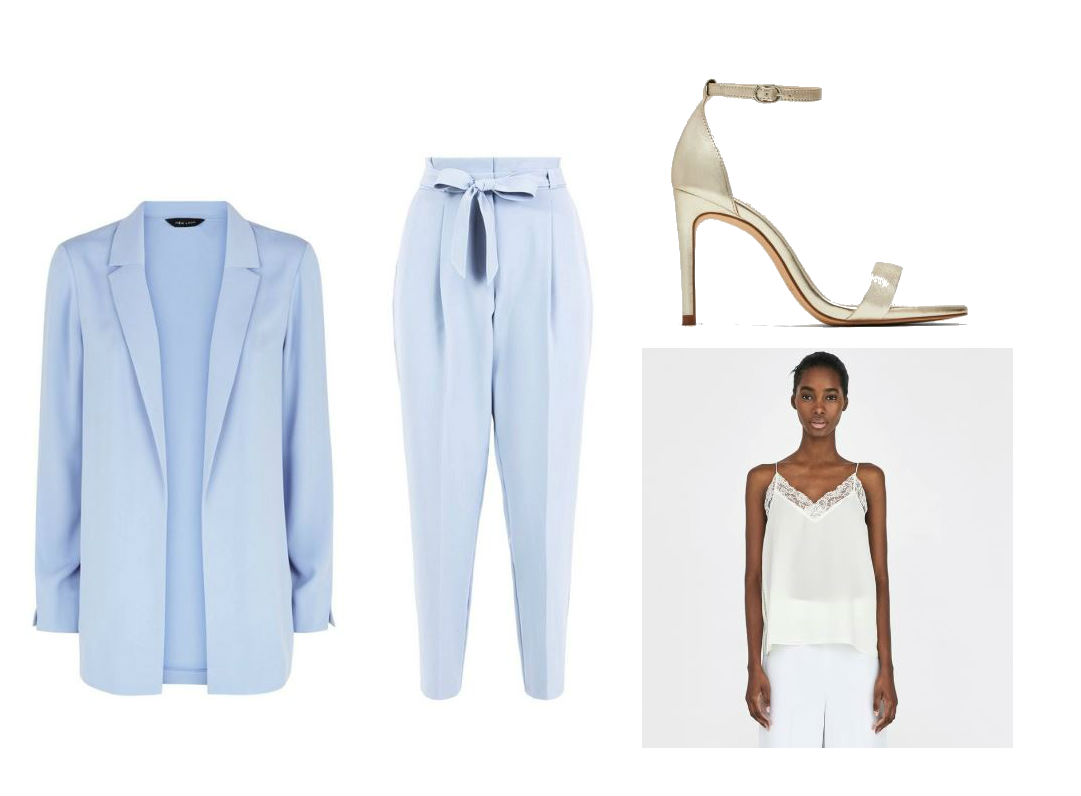 powder blue suit outfit summer party