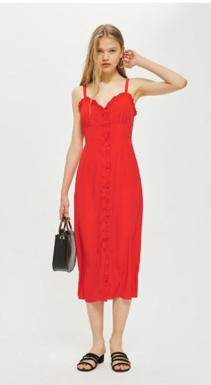 topshop ruffle Midi Slip Dress 50,00 €