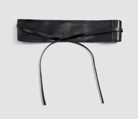 mango sash belt black