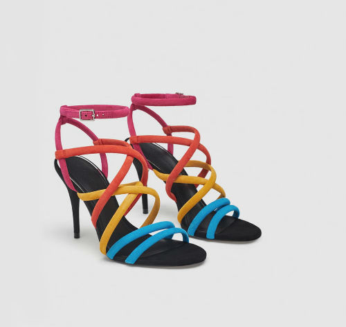 zara multicoloured sandals