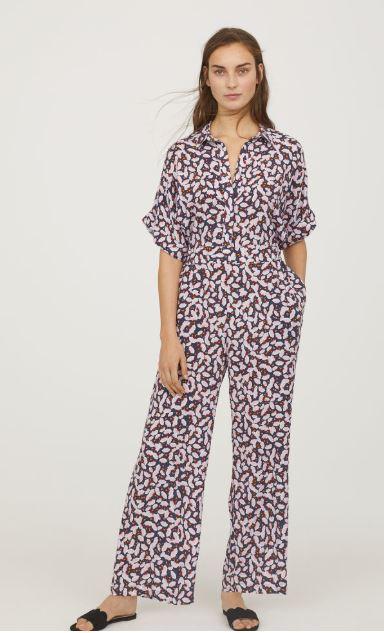 hm floral print jumpsuit