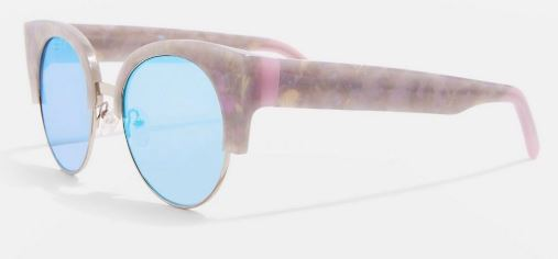 Handmade Premium Acetate Kitten Club Sunglasses from Topshop