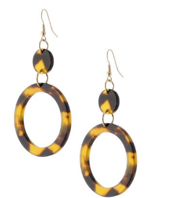 Tortoise Loop Drop Earring