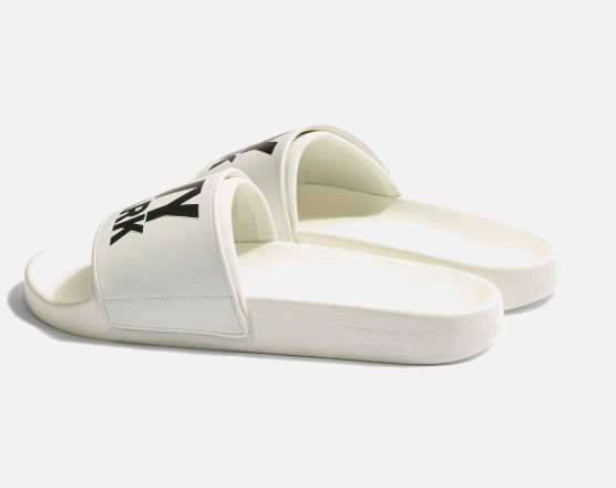 white ivy park sliders