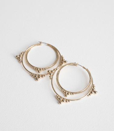 other stories ball stud hoop earrings