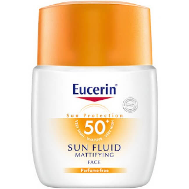 Eucerin sun fluid mattifying face foundation splitting