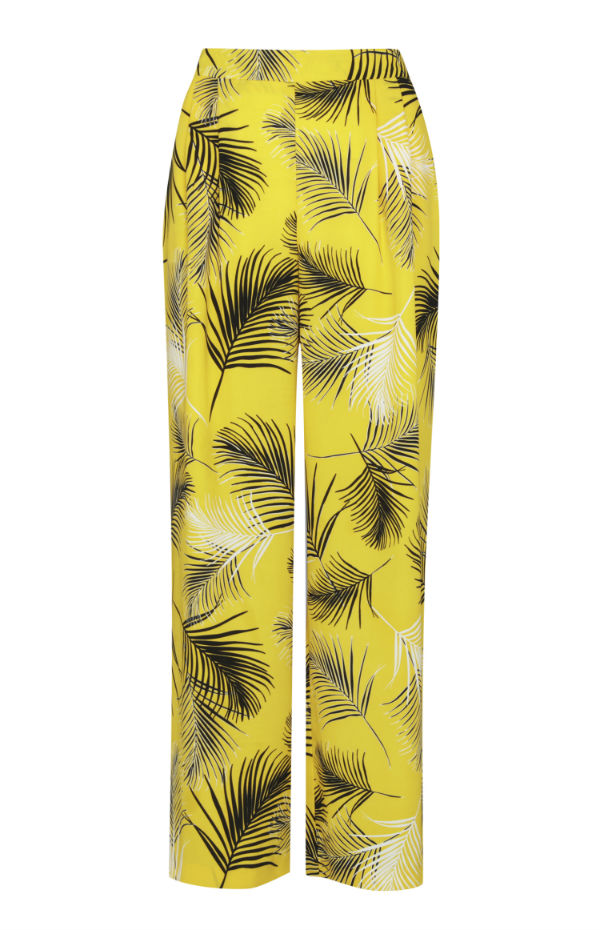 penneys yellow and leaf print palazzo pants