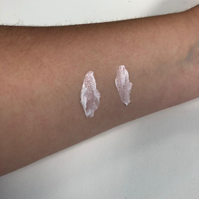 mac swatch versus cyo illuminating cream