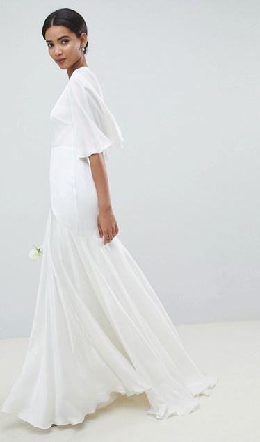 6325aa3f6e35c1 ASOS EDITION Fringe Embellished Midi Wedding Dress €276.50. ASOS EDITION  Wedding Dress With Open Back And Flutter Sleeve €248.85