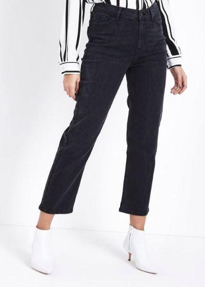 black crop jeans