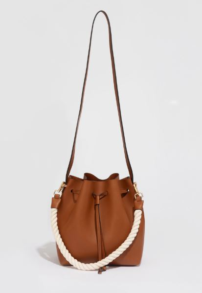 rope strap leather bag