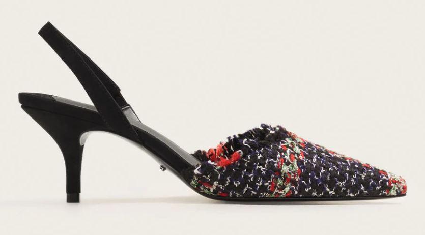 mango slingback heel