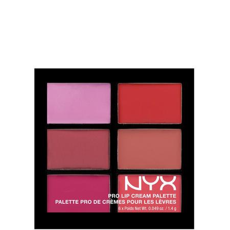 NYX lip palette nudes