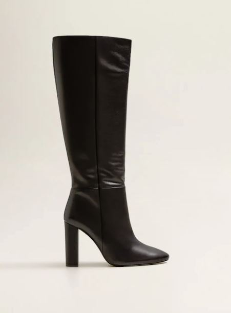 mango leather boot