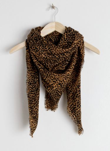 leopard print scarf other stories