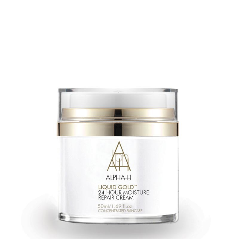 liquid Gold 24 hour moisture repair cream night time exfoliating treatments