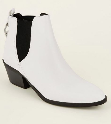 new look white western autumn boots
