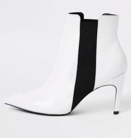 river island white autumn boots
