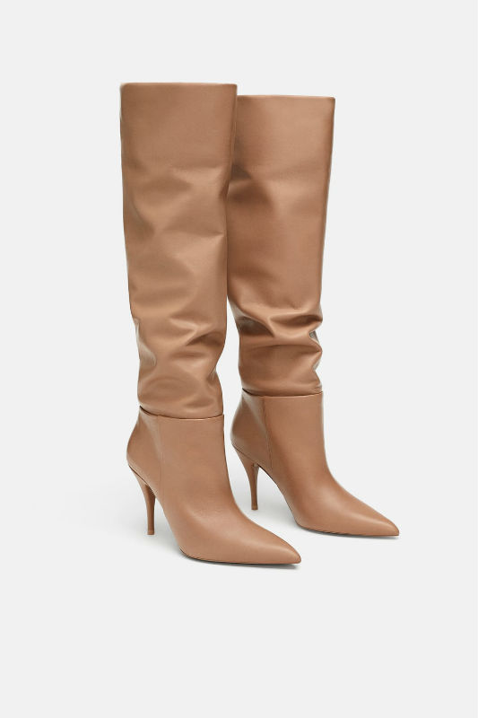 zara tan autumn boots