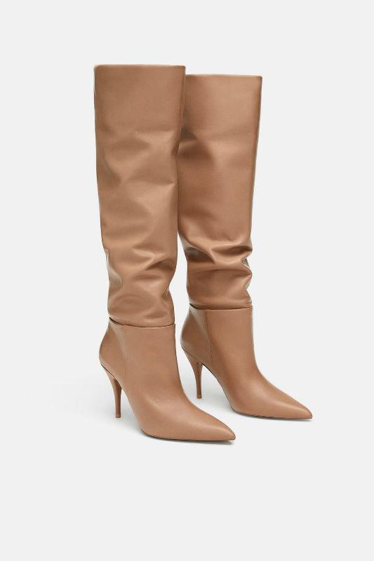 zara tan autumn boots