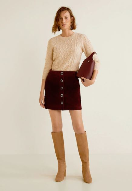 mango mini skirt with boots