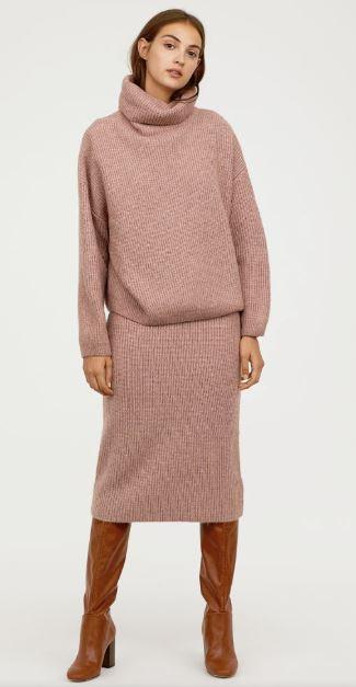 hm knitted skirt