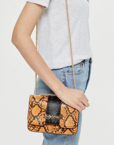 topshop snake print bag