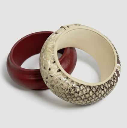 snake print bracelets