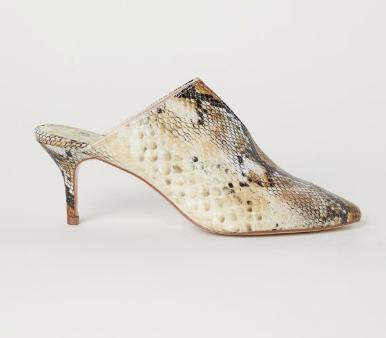 hm snake print shoe