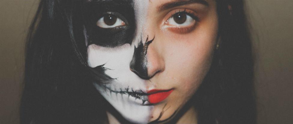 Handbag Skull Makeup