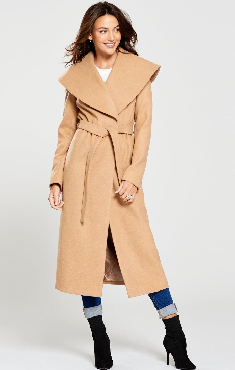 michelle keegan littlewoods high street camel coat